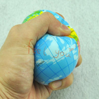 Wholesale X quot World Map Foam Earth Globe Hand Wrist Exercise Stress Relief Squeeze Soft Foam Ball