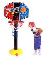 Cheap Wholesale-New baby toys basketball frame stands Indoor outdoor toys for children kids toys Simple basketball set Court Indoor kids games