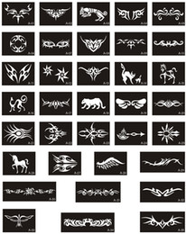 Wholesale Hot Sale Glitter Tattoo Stencis For Temporary Airbrush Body Art Paint Latest Templates
