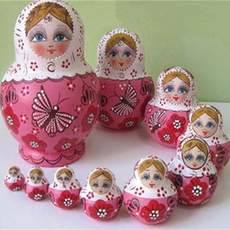 Wholesale Hot Sale layers Beautiful Doll Wooden Toys Matryoshka Doll Kids Gift Russian Nesting Dolls Baby Toy Girl Doll