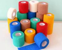 adhesive bandages lot - Self Adhesive Non Woven Cohesive Bandage CMX4 M sports tape Mixed Color Self Adhesive elastic bandages