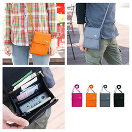 Wholesale Travel Security Wallet Organizer Passport Card Ticket Holder Cash Purse Storage Bag With Shoulder strap Drop Shipping