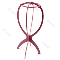 wig stand - New Folding Plastic Stable Durable Wig Hair Hat Cap Holder Stand Display Tool