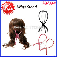 wig stand - Portable folding wig stand high quality wig hair wig cap hat rack presentation tool Plastic wigs stand