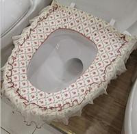 bath toilet set - Princess High Quality Lovely COMFORTABLE toilet seat cover bath Set toilet seats fabric WC toilet set Overcoat Toilet Case