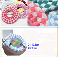 Cheap Wholesale-High Quality New Fashion Bathroom Warmer mat toilet sets Toilet Seat Cover Washable Cloth Seat Cover Pads toilet