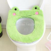Wholesale Bathroom Warmer Toilet Washable Cloth Toilet Seat Warmer Pad Cartoon Plush Toilet Mat Thickening Potty Set Toilet Seat Cover Mat