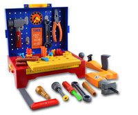 Cheap Wholesale-Tool Chest Engineer Work Bench Workshop Toolbench Kids Baby Power Drill Pretend Play Repair Tool Kit