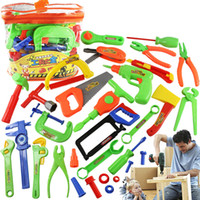 Wholesale Tool Toy Kit Set Toolbox Package Children DIY Play house plastic toy