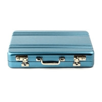 banks business cards - Factory New Metal Mini Briefcase Suitcase Business Bank Card Name Card Holder Case Box price jul31