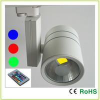 art furniture galleries - EPISTAR COB W RGB LED TRACK LIGHT F With Remote Control For Jewelry shop Boutique Furniture town Clothing store Art gallery