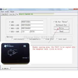 Wholesale 125KHz RFID ID Card Reader amp Writer Copier Programmer FREE Rewritable ID Card Keyfob COPY ISO EM4100 EM4102 Proximity T5577