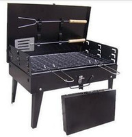 bbq types - Portable outdoor grill convenience type barbecue stove BBQ grill portable folding box type barbecue grill