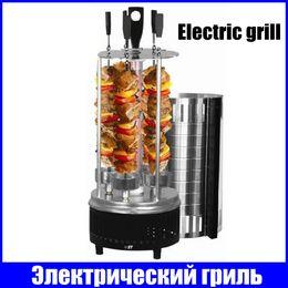 Wholesale vertical electric Barbecue grill skewers smokeless bbq churrasqueira eletrica kebab shawarma machine churrasco