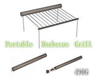 Wholesale Freee shipping hot sell Light Weight Portable Stainless steel Camping BBQ Grill Folding BBQ Outdoor Cooking