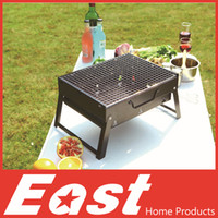 Wholesale East BBQ Grills cm Outdoor Black Steel Hiking camping Charcoal Grill Picnic BBQ Grill for Barbecue