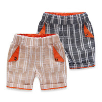 arrival bermuda shorts - Bermuda menino summer new arrival plaid linen short garcon kids school shorts for boys retail