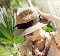 natural straw hat - June syoung Hot Sale Summer Fashion Sun Hats for Women and Men Flower Lace Brim Natural Wheat straw Modern