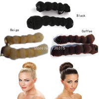 Wholesale A16 Hot Sale Different Sizes Hot Sale Elegant Magic Buns Hair Accessories Headwear Hair Rope Colors Drop Shipping H6562 P