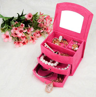 Wholesale Fashion birthday gifts carrying cases accessories necklace earrings jewelry display storage organizer boxes jewelry box