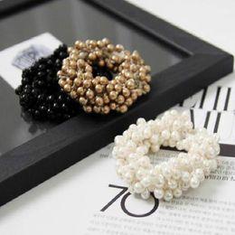 Wholesale Women hair Accessories Hair Ornaments Craft woven beads elastic hair ring Headband Hair rubber