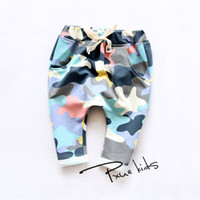 big camouflage clothing - The big boys and girls classic camouflage cotton harem pants Korean children s clothing
