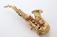Wholesale French Selmer High pitch Bb Soprano Bend Saxophone curved bell B Flat Saxe Musical Instrument sax Saxofone