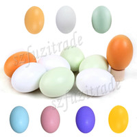 Wholesale pc DIY Wooden Egg Baby Children s Educational Play Kitchen Toys Cooking Drawing Carving Tricking Toy