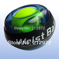 Wholesale pc New Power Wrist Ball Gyroscope Magical Wrist Strengthener Ball Arm Exercise with Retail Box Blue Orange