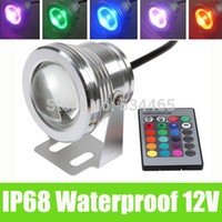 Wholesale W v underwater RGB Led Light Waterproof IP68 fountain swimming pool Lamp Lights16 color change key IR Remote controller