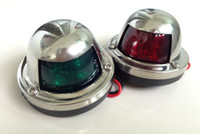 navigation light - Marine boat Yacht Stainless Steel Red and Green Bow Navigation Lights One Pair LED Light