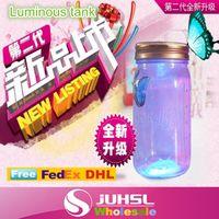 baby toy ideas - baby toys light sensor colorful sun jar glow in the dark tank light emitting butterfly tank birthday gift ideas X10