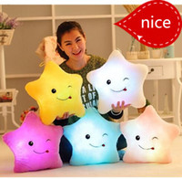 best pillow brands - new plush Stars baby toy brand best Colorful led Luminous Pillows led Light Pillows kids personalized gifts drop shipping