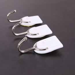 Wholesale Wall Door Small Self Adhesive Hook Clothes Hanger Sticky Holder For Kitchen Bathroom