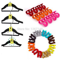 garderobe - set Mini Home Garderobe Clothes Hanger Holder Flocking Conector Hook Anti Clip FZ0s