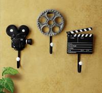 Wholesale New Arrival Creative Coat Hook Wall Hanger Film Equipment Design Wall Decoration Hook Hot Selling