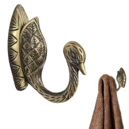 Wholesale Beautiful Design Best Price Retro Bronze Antique Alloy Phoenix Hook Hanger Hat Door Wall Clothes Towel Bath Fit For Decoration