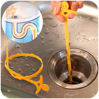 drain clearing - sewers clear household cleaning hook sink drain blockades hair pipe cleaning K4507