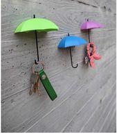bathroom towel colors - boxes Cute Umbrella Hooks Towel Key Glasses Sundries Hook Hanger Home Bathroom Storage Holder Hanger PP Mix colors