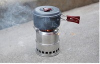 camping stove - Portable Outdoor Camping Stove Lightweight Stainless Steel Wood Stove Furnace Picnic Solidified Alcohol Stove ST60203