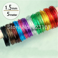 anodized aluminum wire - mm anodized aluminum wire multi optional mixed colors rolls m for jewelry findings DIY decoration