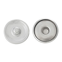 Wholesale New Snap Button Round Silver Tone Cabochon Setting mm quot Dia