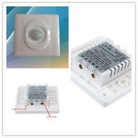 al por mayor conmutación automática de la luz-Venta al por mayor 2015-Switch de la alta calidad 110V-220V de infrarrojos automático PIR sensor de movimiento para luz LED