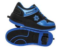 single wheel shoes - Boys girls roller shoes outdoor sport sneakers Size30 single wheel shoes for men zapatillas de deporte con ruedas wholesales