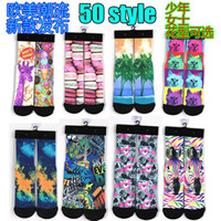 Wholesale Pieces pairs Fashion Children Stockings D Tie dyed Styles Funny High Keen Socks in Good quality Terry knitted fabric