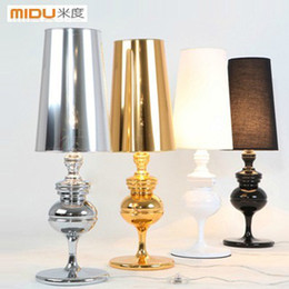 Wholesale Light Decoration For Home Prices - Wholesale-Free Shipping,Wholesale Price,Bedoom Parlor Light,Golden Silvery Black White Modern Bedside table Lamps For Home Decoration