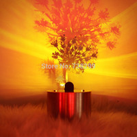 art projector - LED Shadow Projector Lamp Stainless Steel Candle Effect LED Light Dandelion Pine Birds Model Timing Atmosphere Lamp for Gift