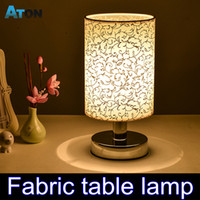 bedside tables sale - HOT SALES Fabric Led Desk Lamp Fashion Bedroom Light Bedside Lamp Modern Brief Rustic Small Table Lamp abajur lampada