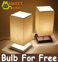 Wholesale Modern Desk Lamp E27 V V wood base fabric lampshade desk light table lamp for living room dinning room bar restaurant