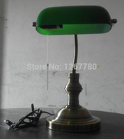 bankers lamp green - bank lamp banker lamp table lamp gold desk lamp